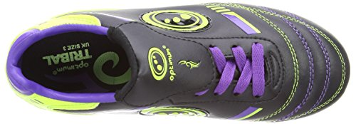 Optimum Tribal, Chaussures de Rugby Garçon Noir (black/purple/green)