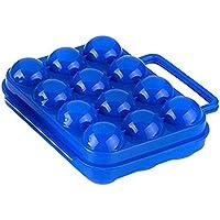 Jungen Bandejas de huevos de soporte para huevos de plástico 12cajas de almacenamiento de huevos de rejillas de cocina 20x 7 x 15cm azul