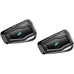 """Cardo FRC41103 Scala FREECOM 4 Duo Bike Système de communication moto Bluetooth 4.1 avec audio HD, connectez-vous avec un maximum de 4 coureurs (Dual Paquet)(Dual Pack) """"production interrompue"""""""
