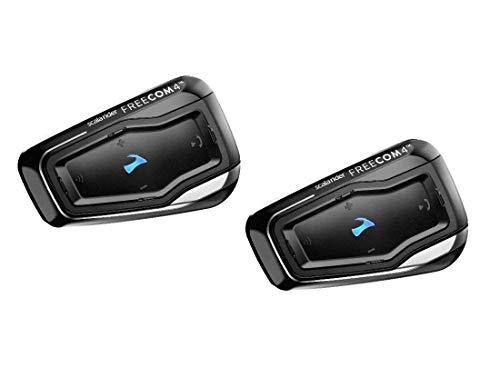 Cardo FRC41103 Scala FREECOM 4-Bluetooth 4.1 Kommunikationssystem für Motorräder mit HD-Audio für Alleinfahrer  (Dual Pack)