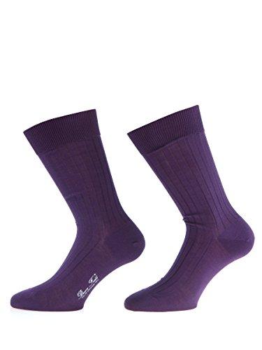 8806ed96cd9 Bruce Field - Chaussettes colorées homme en fil d Ecosse 100% coton
