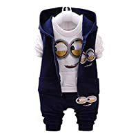 dark blue minions Baby Clothing Set For Unisex