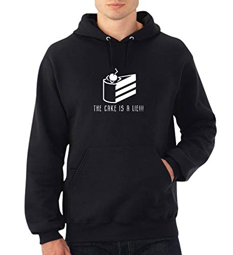 Portal The Cake is A Lie Cream and Sugar_A0642 Fan Art Hoodie Sweater Kapuzenpullover Sweatshirt Pullover Funny Christmas 2XL Black Hoodie