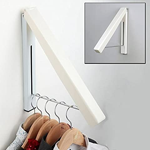 Top Home Solutions® Indoor / Outdoor Stainless Steel Folding Wall Hanger Portable Clothes Storage Organiser
