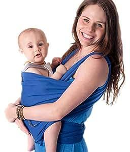 ❤️ Tragetuch Baby von Cuddlebug ❤️ mit Gratisversand - 5 Farboptionen - Baby Carrier Ring Sling - Babytragetuch Neugeborene - Elastisches Tragetuch (blau)