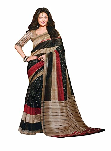 BuyOnn Women's Multi Colour Bhagalpuri Art Silk Printed Saree With Unstitched Blouse Piece,Free Size  available at amazon for Rs.315