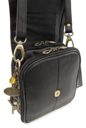 Catwalk Collection Handbags Borse tascapane, Donna, Nero (Schwarz),