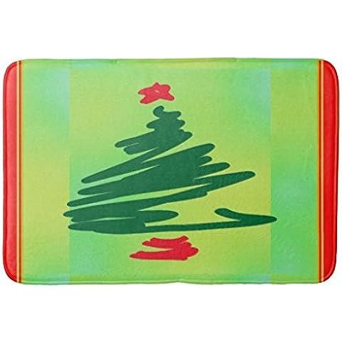 whiangfsoo Árbol de Navidad alfombrilla de baño cuarto de baño cocina Puertas delanteras, #01, 16
