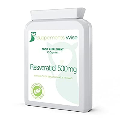 Resveratrol 500mg Capsules (90) | High Strength Antioxidant Supplement | For A Healthy Immune & Cardiovascular System