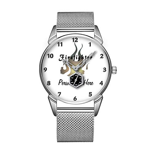 Mode wasserdicht Uhr minimalistischen Persönlichkeit Muster Uhr -352. Feuerwehr-Decal -
