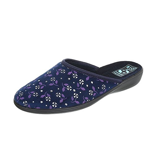 Pantofole Italiane Design Pantofole Da Donna Pantofole Pantofole Casual Blu Multi