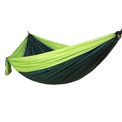 ME- Hamac, Double Camping avec des Courroies pour hamacs, hamac à Parachute portatif pour Les Voyages avec Sac à Dos