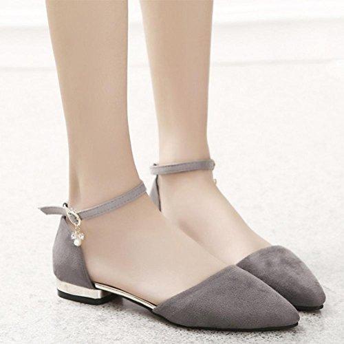 Sommer wies grobe mit dem Wort cingulären sexy und elegante Sandalen Schuhe Grey