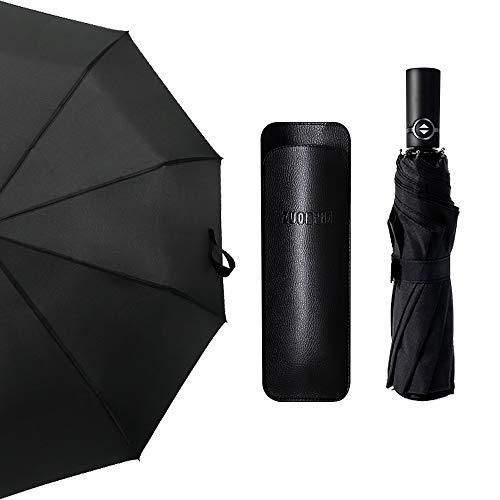 Nasharia Automatischer Regenschirm für Männer und Frauen, aus 210T Nano-Stoff, wasserabweisend und 10 Streben, sehr geeignet für Geschäftsreisen, Reisen, Wandern, Camping und so weiter.