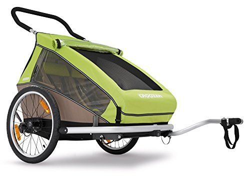 Preisvergleich Produktbild 2016 Croozer Kid for 2 - 3 in 1 Two Child Trailer (Includes Trailer kit,  Stroller Kit and Jogging Kit) Meadow Green / Sand Grey by Croozer