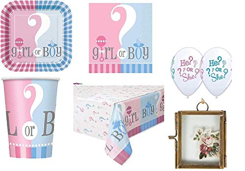 Baby Shower Gender Reveal Party Pack Cumpleaños Suministros