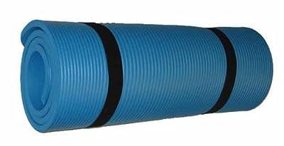 Yogamatte Pilates Gymnastikmatte 190 x 60 x 1,5 cm in blau