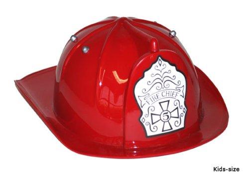 Roter Feuerwehrhelm für Kinder (Feuerwehrmann Kind Kostüme)