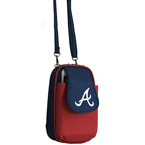 Charm14 MLB Atlanta Braves Crossbody Cell Phone Purse XL -Fits All Phones