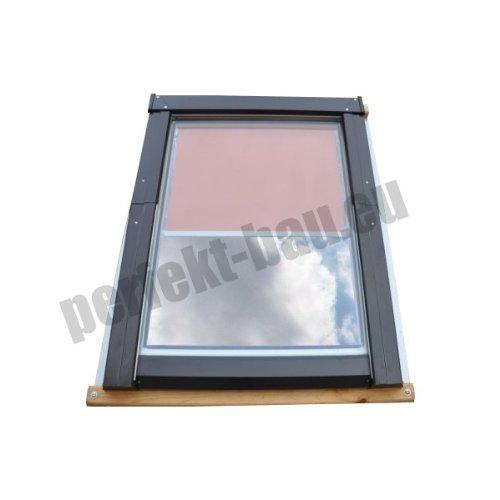 AFG - Skylight Premium Dachfenster Schwingfenster PVC 78 x 118 mit Eindeckrahmen