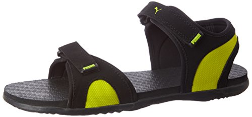 Puma Men's Relay Idp Puma Black, Puma Silver and Limepunch Athletic & Outdoor Sandals - 8 UK/India (42 EU)
