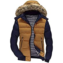 Malloom Hombre Inverno Casual Chaqueta Acolchada con Capucha De Pelo  Sintética Espesar Cálido Impermeable A Prueba a391b3a5f640f