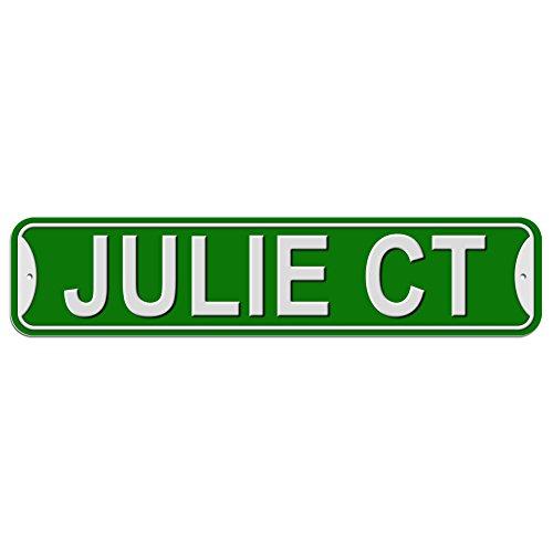 Julie Schild–Kunststoff Wand Tür Street Road weiblich Name, plastik, grün, Court