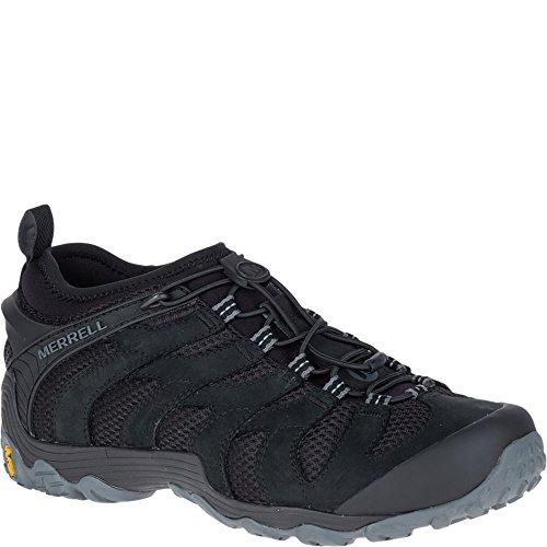 Merrell Chameleon 7 Stretch Herren Schuhe Sneakers Leder Wander Slipper J12063 SCHWARZ (43) (Schuhe-chameleon Merrell Herren)