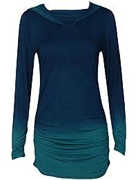 37a8531ec7e7e Women s Hoodies TUDUZ Women Gradient Color Long Sleeve Hoodies Sweatshirts  Outdoors Sports Yoga Fitness Workout Hooded