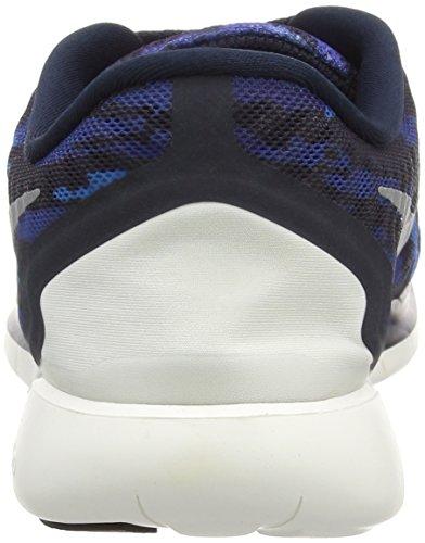 Nike Free 5.0 Print Herren Laufschuhe Blau (Dark Obsidian/White/Hot Lava)