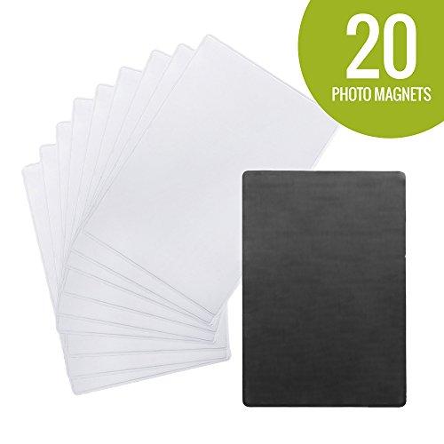 Sticky Shoot-5,1x 7,6cm Foto Kühlschrank Magnete für alle sofort Fujifilm und Polaroid Filme-selbstklebend Magnet für Mini Instax, Zink und Kameras. (Lp Kühlschrank)