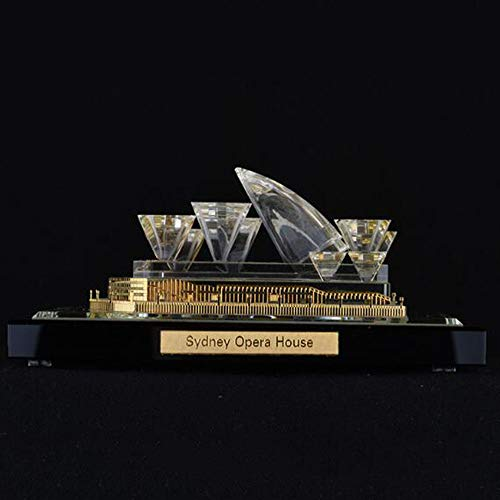 Kostüm Sydney - DDCYY Skulptur/Statue, Opernhaus Von Sydney,Kristallarchitekturmodell,WeltberüHmten Architekturmodell Dekoration,Reisesouvenir