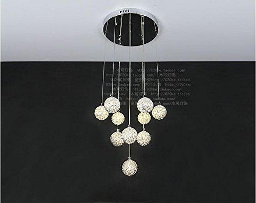Hauptbeleuchtung LED Aluminium Draht Kugel fisch Stil, Kronleuchter, 2 (Ein Fisch Zwei Fische Kostüm)
