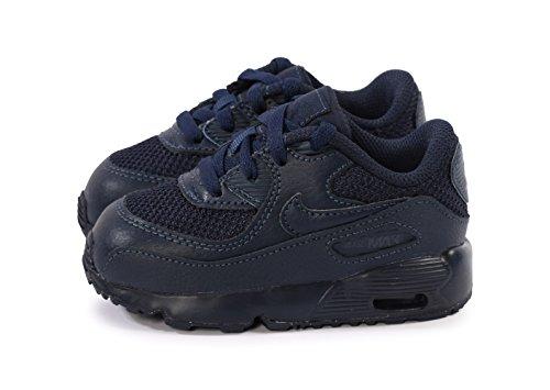 Nike Unisex – Bimbi 0-24 Air Max 90 Mesh (Td) Scarpe da Ginnastica Basse Azul (Obsidian / Obsidian)