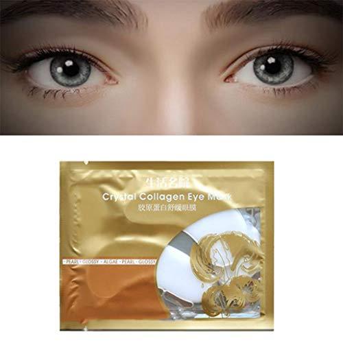 Masque pour les yeux,Fulltime 1pc Ride de vieillissement de collagène d'oeil sous l'anti masque de correction de gel de cristal (Blanc)