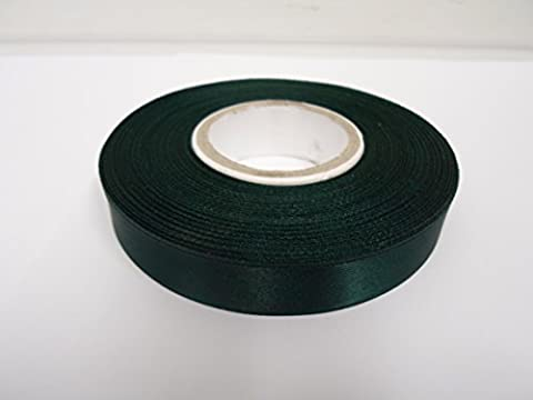 1 Roll of 15mm x 25 metres Satin Ribbon, Forest, dark green, Double sided, Wedding Favours Decorative Easter Christmas 15
