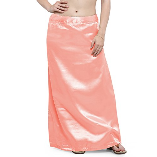 Ziya Premium Satin Petticoat With Attached Pure Cotton Inner (Peach)