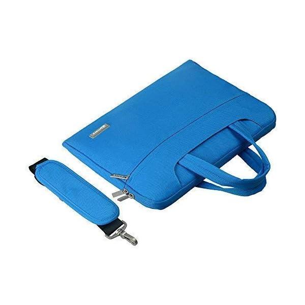 Qishare 13.3-14 Pulgadas Multifuncional port/átil Hombro Bolsa malet/ín port/átil de Ordenador port/átil Caso Portador de la Ordenador port/átil Messenger Caso 13.3-14 Pulgadas,Negro