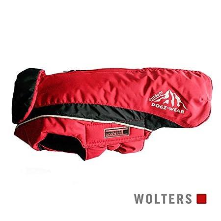 Wolters | Skijacke Dogz Wear wasserdichtem RV rot/schwarz | Rückenlänge 28 cm