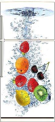 Stickersnews Kühlschrank-Aufkleber, Motiv Obst, gestreift, 70 x 170 cm, Ref. 525