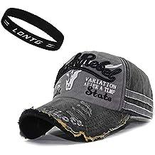 Unisex Gorra de béisbol Vintage Jeans sombrero de golf sol playa algodón  ajustable Gorra Visera anti 2a763232ba2