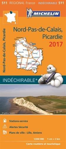 Carte Nord-Pas-de-Calais, Picardie Michelin 2017