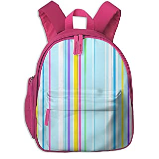 Childrens Backpack for Girls,Unicorn Stripe_4989-four-letter_Fabric,for Children's Schools Oxford Cloth (Pink)