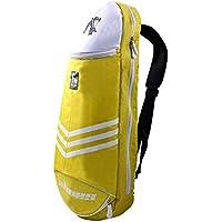 Étanche pour raquette de badminton raquette de sac sac à bandoulière sac à dos sport–jaune