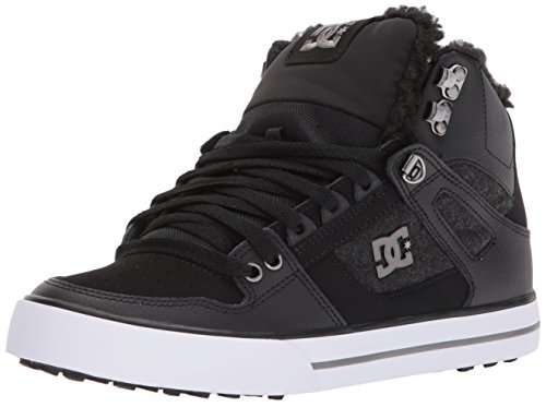 DC Women's Spartan High WC Wnt Skate Shoe, Black/Armor, 7.5 D D US (Schuhe Damen High Dc Skate)