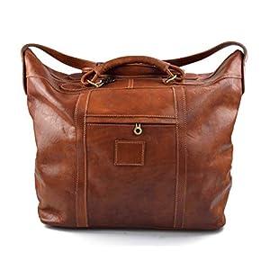 Herren ledertasche reisetasche umhangetasche mit griffe schultertasche sporttasche seesack leder honig