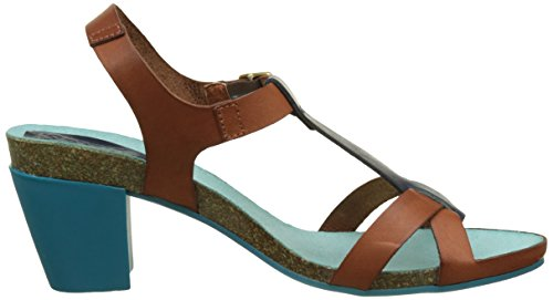 Kickers Damen Pietra Pumps Marron (Camel Bleu)