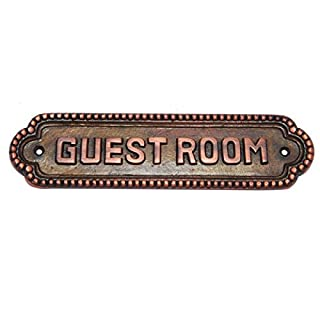 Adonai Hardware Guest Room Brass Door Sign - Antique Copper