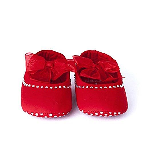 en Durchgängies Plateau Sandalen mit Keilabsatz , rot - rot - Größe: 0-6 Monate (Sparkly Schuhe Für Kinder)
