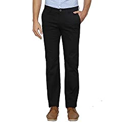 Indian Terrain Mens Relaxed Fit Casual Trousers (A17-DALTON-8907633563549_Black_36W x 34L)